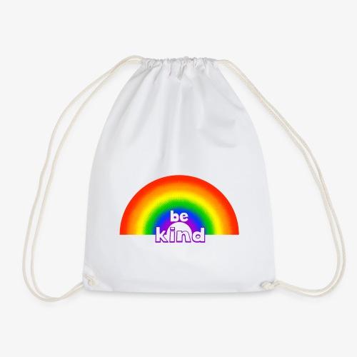 Be Kind Rainbow Regenbogen Farben - Turnbeutel