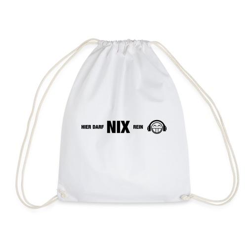 Hier darf NIX rein-quer - Turnbeutel