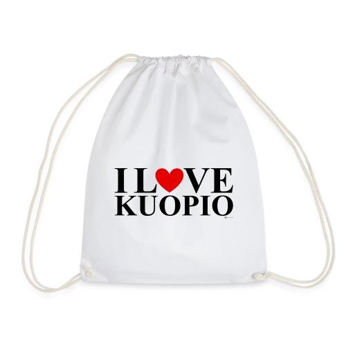 I LOVE KUOPIO (koko teksti, musta) - Jumppakassi