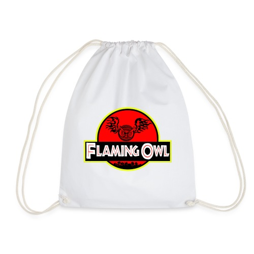 Flaming Jurassic Owl - Gymnastikpåse