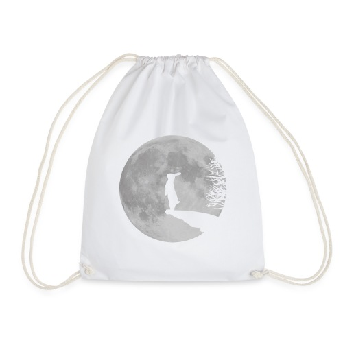 rabbit_wolf-png - Drawstring Bag
