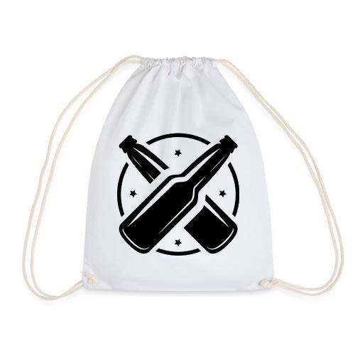 Men's V-Neck T-Shirt - Drawstring Bag