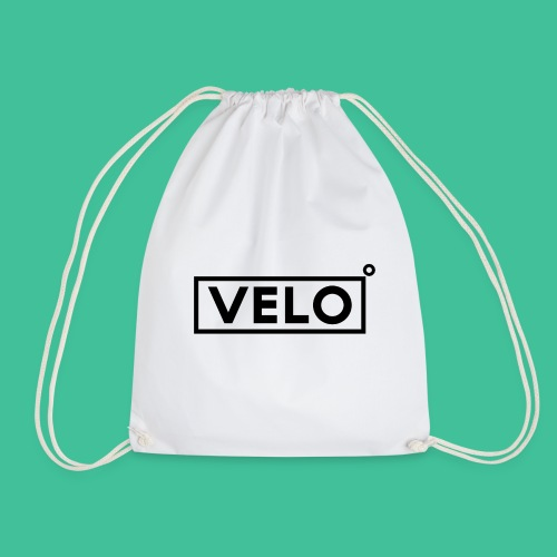 Velo Icon Blk - Long Sleeve Baseball Shirt W/N Clr - Drawstring Bag