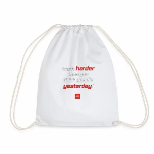 WORK HARDER - Pullover mit Motivationsspruch - Turnbeutel
