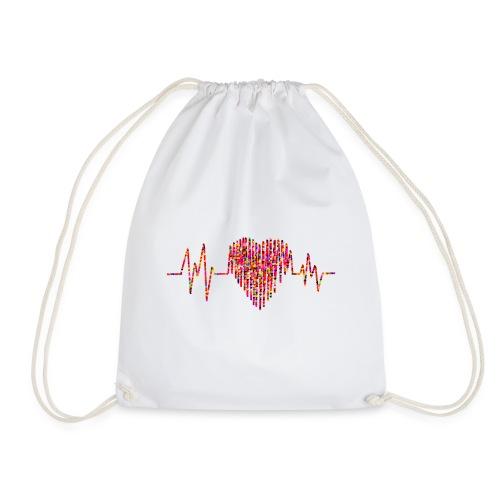 Herz Kardiogramm - Turnbeutel