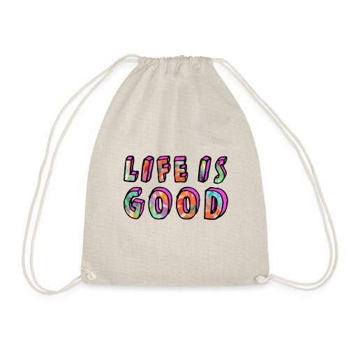 LifeIsGood - Drawstring Bag