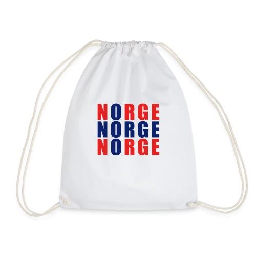 Norge Norwegen Norwegische Flagge - Turnbeutel