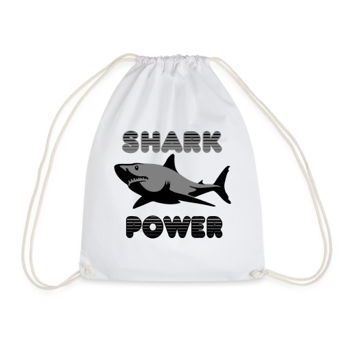 Shark Power Schwarz - Turnbeutel