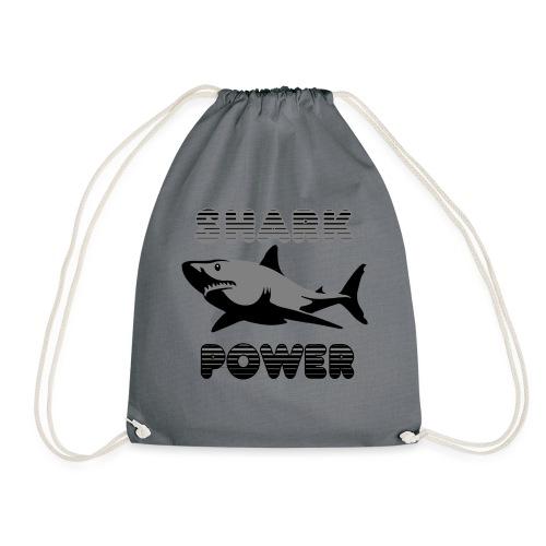 Shark Power Schwarz - Turnbeutel
