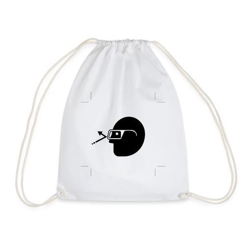 Kopf mit Brille - Turnbeutel