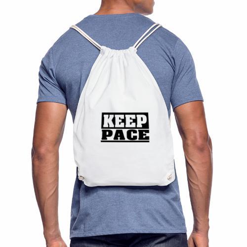 KEEP PACE Spruch, Schritt halten, schlicht, cool - Turnbeutel