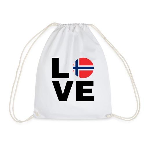 Norway Love - Norwegen Liebe - Geschenk Nord-Fan - Turnbeutel