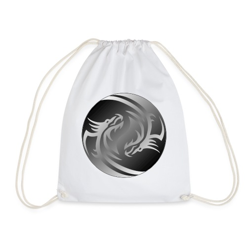 Yin Yang Dragon - Drawstring Bag