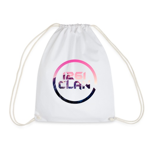 1261 Clan Pink Logo - Drawstring Bag
