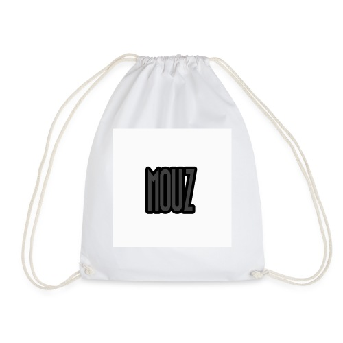 Mouz Black and Grey Design - Drawstring Bag