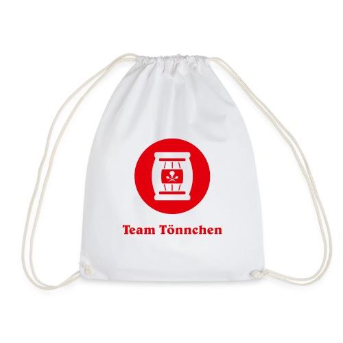 Team Tönnchen Logo rot mit Typo - Turnbeutel