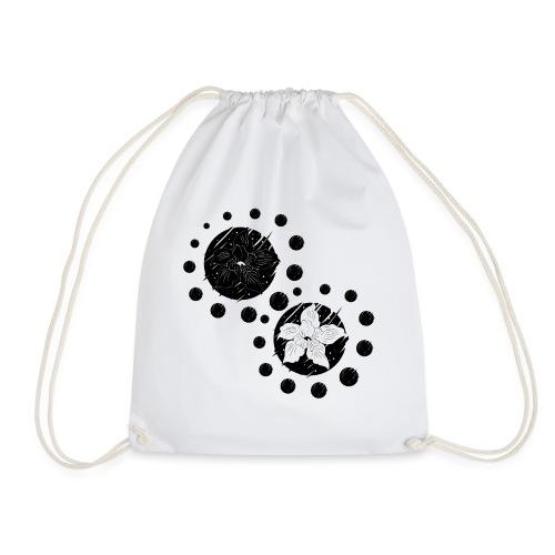 Cosmic flower balance - Drawstring Bag