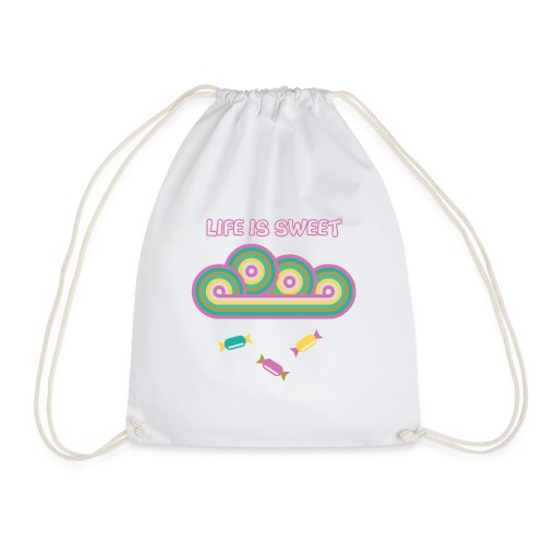 Retro Candy Life is Sweet - Drawstring Bag