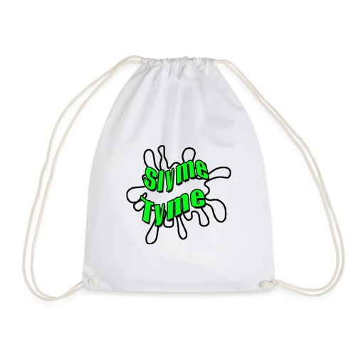 Slyme Tyme Logo / Green To White - Drawstring Bag