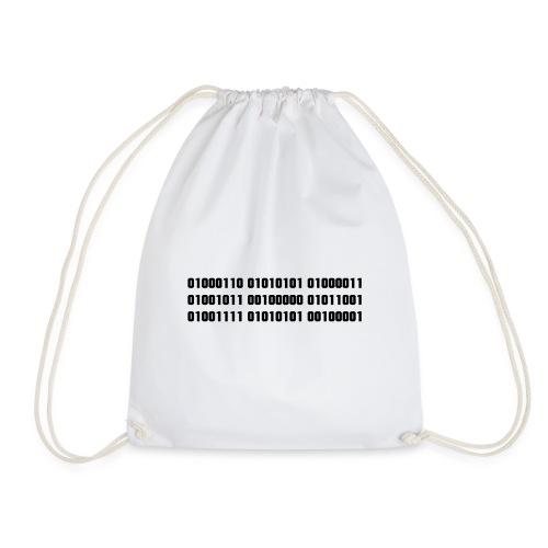 FUCK YOU in binary code - Drawstring Bag