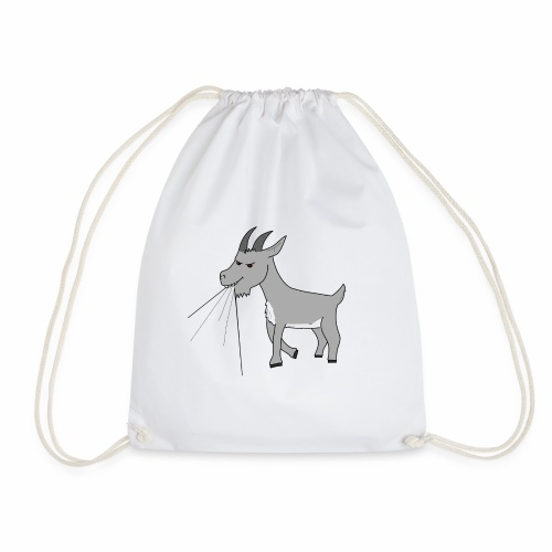 Goat eating t-shirt - Drawstring Bag