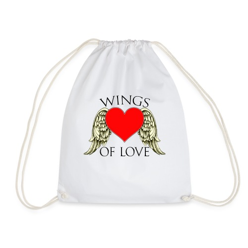 wings of love - Drawstring Bag
