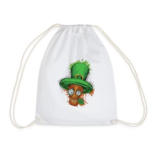 Leprechaun with shamrock - Drawstring Bag