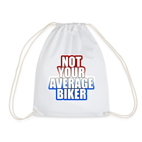 NotYourAverageBiker Hoodie BigWhite BACK logo - Gymtas