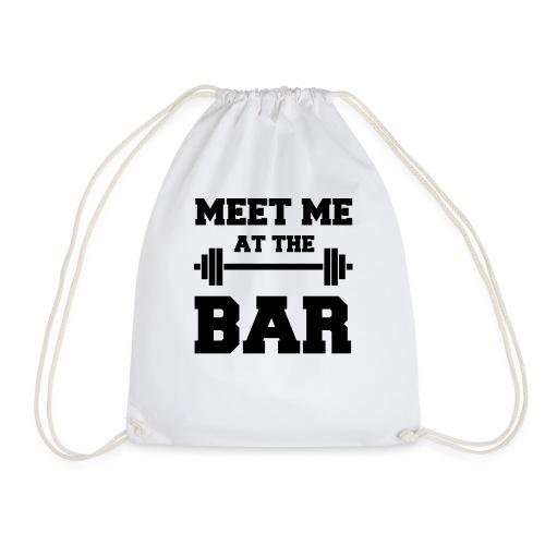 MEET ME AT THE BAR für Fitness-Geeks - Turnbeutel