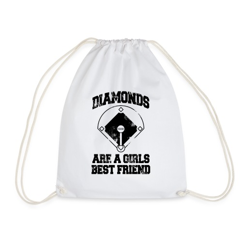 Diamonds Are A Girl's Best friend - Drawstring Bag
