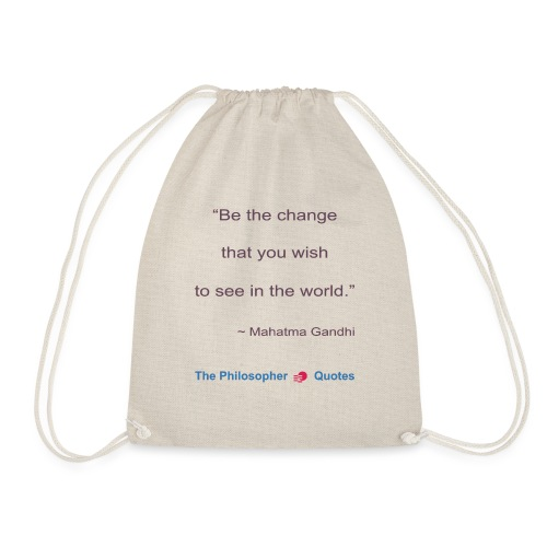 Gandhi Be the change b - Gymtas