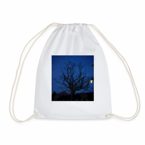 tree night sky - Drawstring Bag
