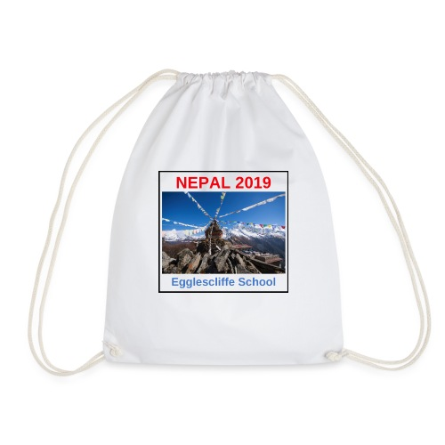 Nepal Egglescliffe School T-shirt Version 1 - Drawstring Bag