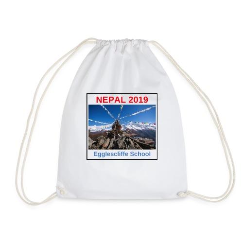 Nepal Egglescliffe School T-shirt Version 1 - Drawstring Bag