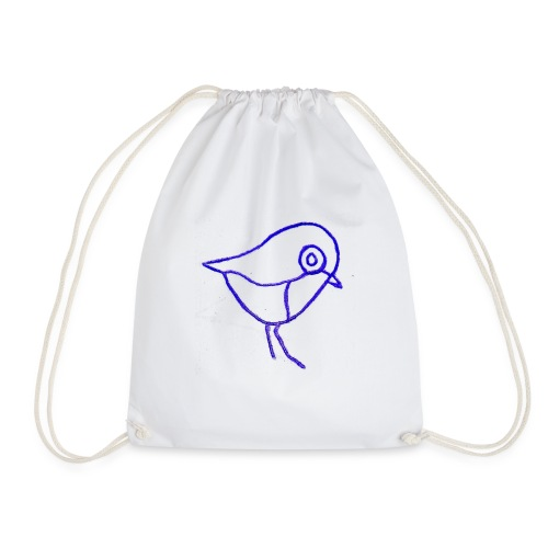 Hugo Puddlebucket Robin Logo - Drawstring Bag