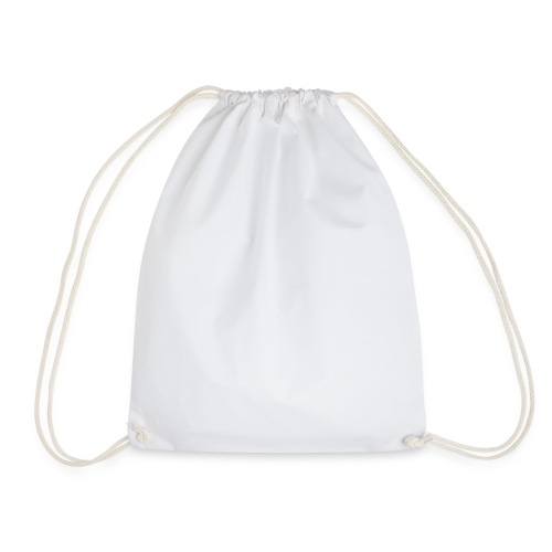 Logo Lucio White - Drawstring Bag