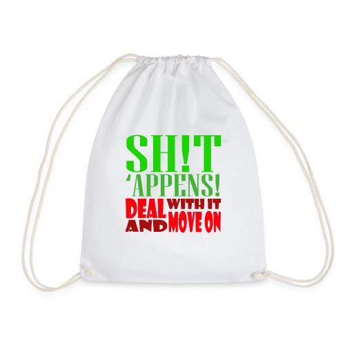 Sh!t 'appens - Drawstring Bag