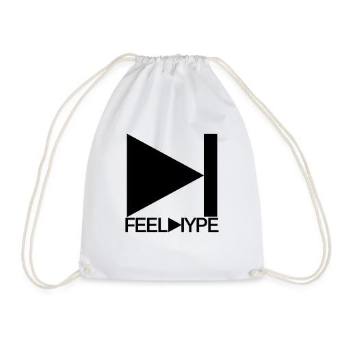 Feel Hype Logo Schwarz - Turnbeutel