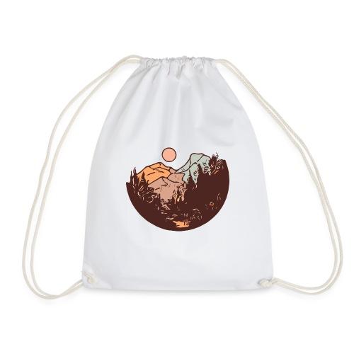 Sunset Mountain - Drawstring Bag