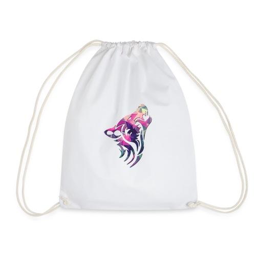 Wolf logo rainbow - Drawstring Bag