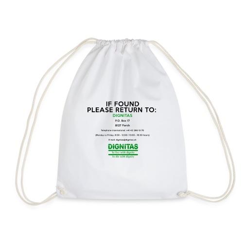 dignitas - If found please return - Drawstring Bag