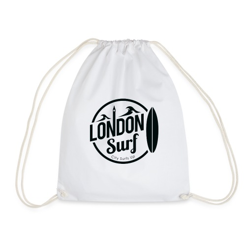 London Surf - Black - Drawstring Bag