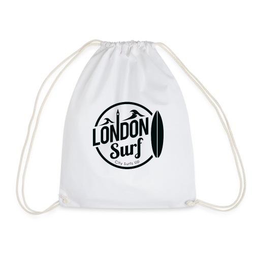 London Surf - Black - Drawstring Bag