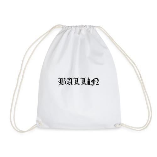 Ballin Black- Tupac Baby Inspired Tattoo - Drawstring Bag