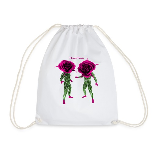 flower power t-shirt - Drawstring Bag