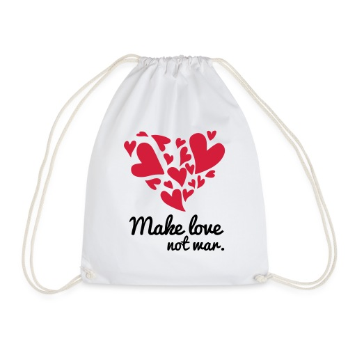 Make Love Not War T-Shirt - Drawstring Bag