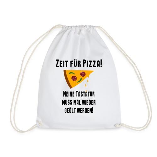 Pizza Essen Tastatur Computer Freak Nerd Spruch - Turnbeutel