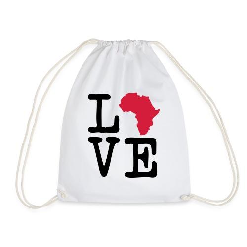 I Love Africa, I Heart Africa - Drawstring Bag