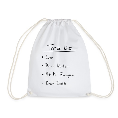 To do list - Turnbeutel