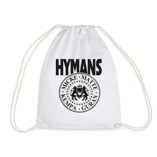 Hymans klassisk svart vit logo tryck - Gymnastikpåse